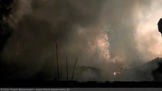 NRWspot.de | Hagen-Boelerheide – Laube nach Schneidarbeiten in Flammen