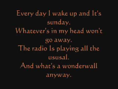 Green Day vs Oasis Boulevard of Broken Dreams Lyrics