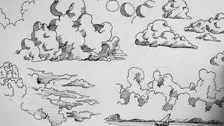 Pen And Ink Drawing Tutorials How To Draw Clouds