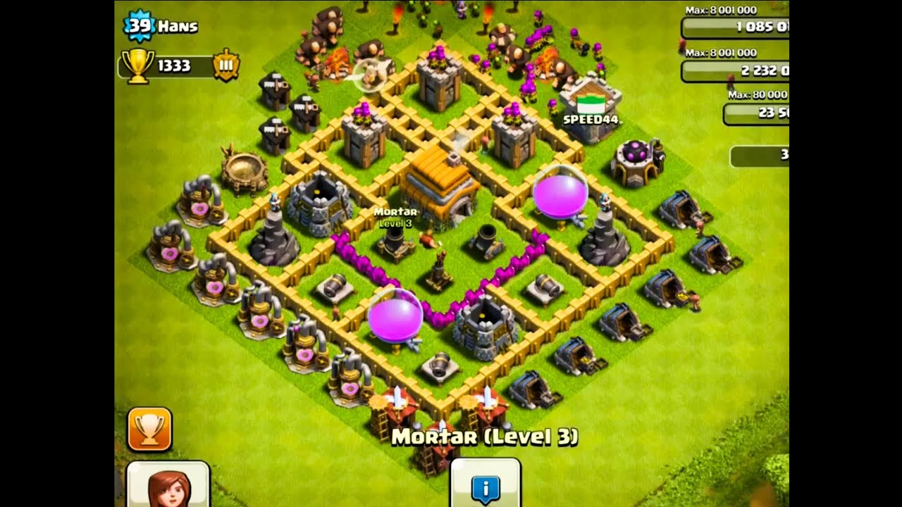 The 2 BEST Defense Bases for Town Hall Level 6 - Clash Of ...
