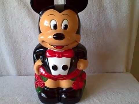 Disney Mickey Minnie Mouse Turnabout Cookie Jar Ceramic