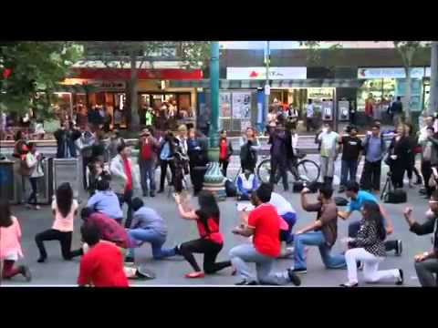 ICC World Twenty20 Bangladesh 2014 Flash Mob Victoria,Melbourne, Australia