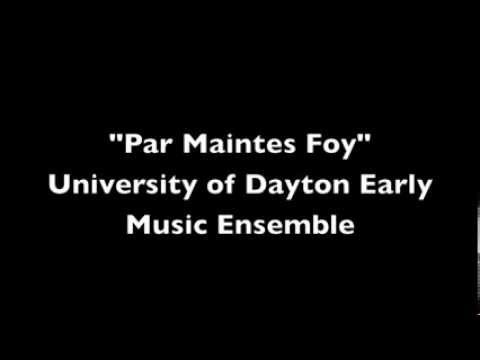 Par Maintes Foy, arranged for sax trio