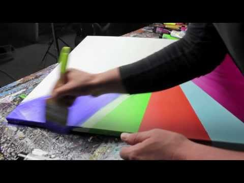 Abstract acrylic painting Demo HD Video - Arionia by John Beckley