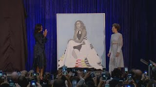Portraits of Obamas unveiled at Smithsonian National Portrait Gallery