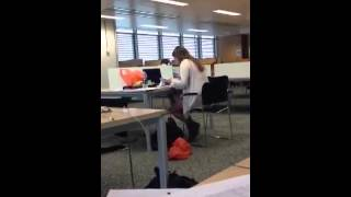 Girl Gets Caught Out When Porn Video Plays On Her Laptop