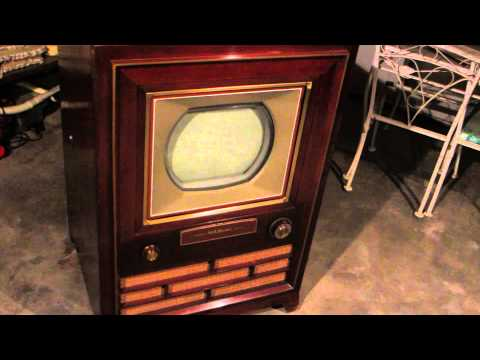 RCA 1954 Victor First Color TV CT-100 Vintage Television