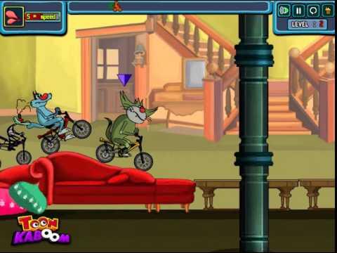Phim hoạt hình mới nhất oggy đua xe đạp level 2