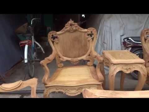 Ghế Lu-i gỗ gụ, 9 thứ, vẻ đẹp kinh điển, cong vắt.
