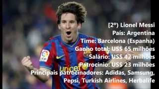 FORBES. Os 10 Jogadores De Futebol Mais Bem Pagos Do Mundo