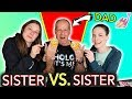 Sister vs Sister Give our Dad a Manicure