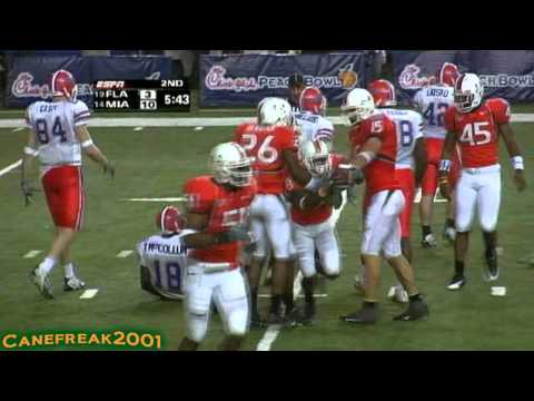 2004 Peach Bowl: Miami Hurricanes vs Florida Gators