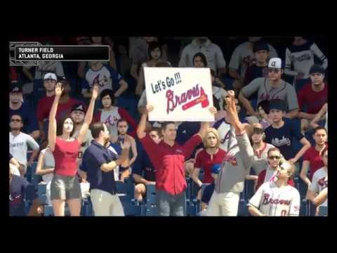 MLB 14 The Show -  Atlanta Braves vs St Louis Cardinals Turner Field:  Matt Carpenter, Matt Holiday