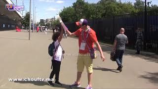 لحظة ولوج الجماهير المغربية والبرتغالية ملعب لوجنيكي بموسكو | خارج البلاطو