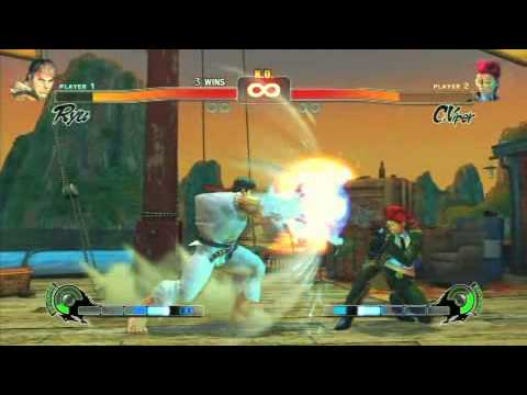 Street Fighter 4 IV Gameplay - Ryu vs C.Viper.