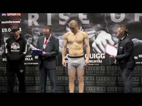 STEPHEN FOSTER JNR. v SANTIAGO BUSTOS - OFFICIAL WEIGH IN FROM MANCHESTER - RISE UP