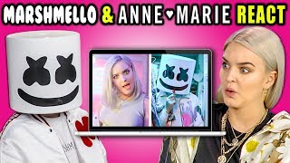 MARSHMELLO & ANNE-MARIE REACT TO THEMSELVES (Friends)