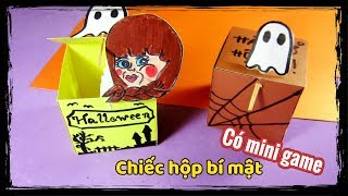 Mini game/ Ami DIY/ Làm hộp bí mật/ Halloween Toy with surprise paper crafts