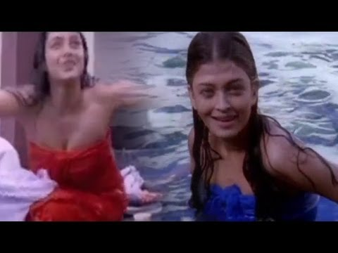 Priyuralu Pilichindi Telugu Movie ||  Aishwarya Roy, Tabbu Swimming Scene