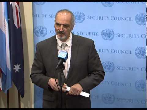 Jafari about the humanitarian situation in Syria