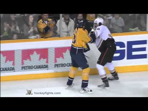 George Parros vs Brian McGrattan Oct 29, 2011