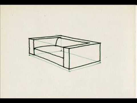 How To Draw A Sofa Youtube