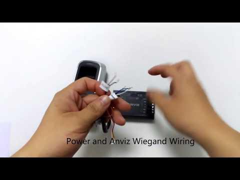 M5 controllo accessi biometrico e card operazioni di cablaggio