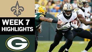 Saints vs. Packers | NFL Week 7 Game Highlights