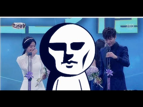 Lee Min Ho & Park Shin Hye - Funny moments at 2013 SBS Drama Awards