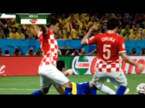 Fred Goes Down Like A Baby (World Cup 2014 Brazil vs. Croatia)