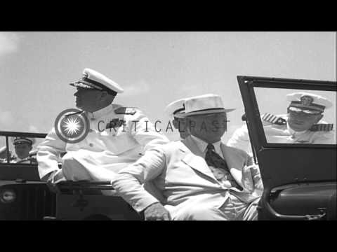 Former Secretary of Navy William Franklin Knox addresses marines on board a ship ...HD Stock Footage