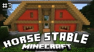 Minecraft Tutorial: How To Make A Cool Horse Stable (How