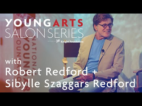 YoungArts Salon with Robert Redford and Sibylle Szaggars Redford