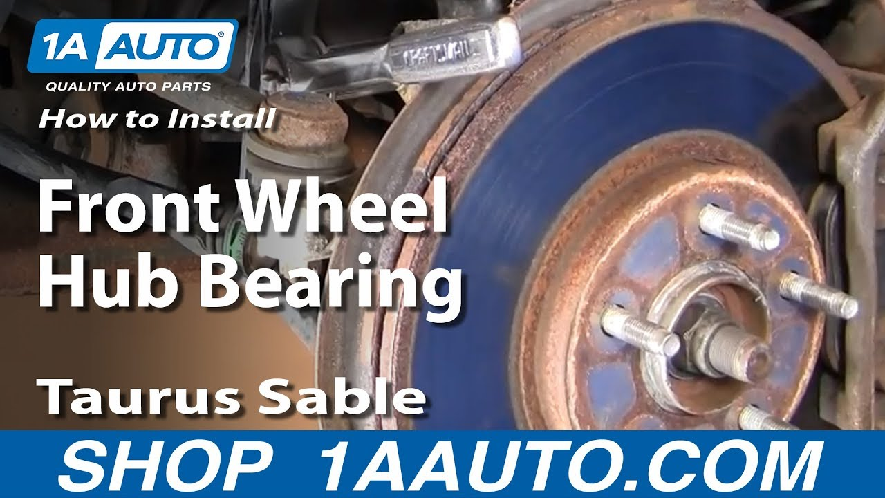 To Install Replace Front Wheel Hub Bearing Taurus Sable 96-06 Part