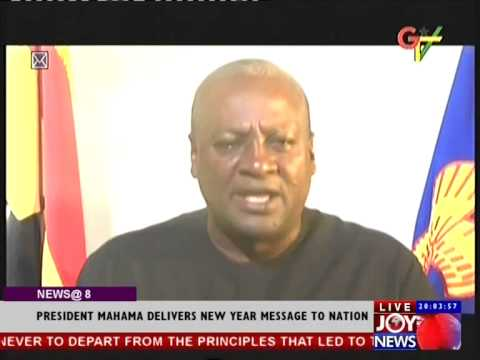 President Mahama  Delivers New Year Message To Nation