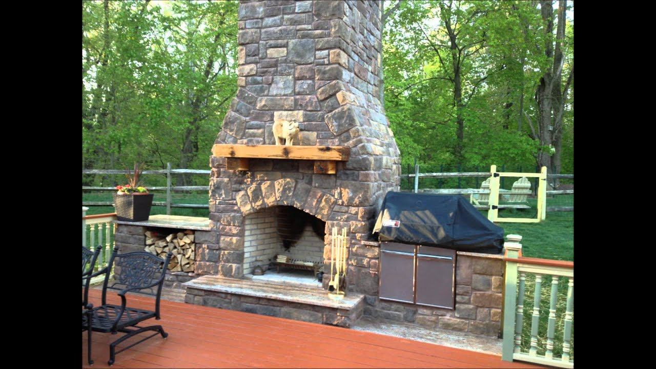 Outdoor Fireplace And Smoker Youtube