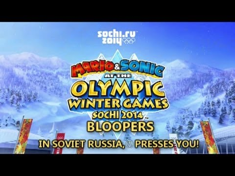 Mario and Sonic at the Sochi 2014 Olympic Games Bloopers: In Soviet Russia, Olympic Games Play YOU!
