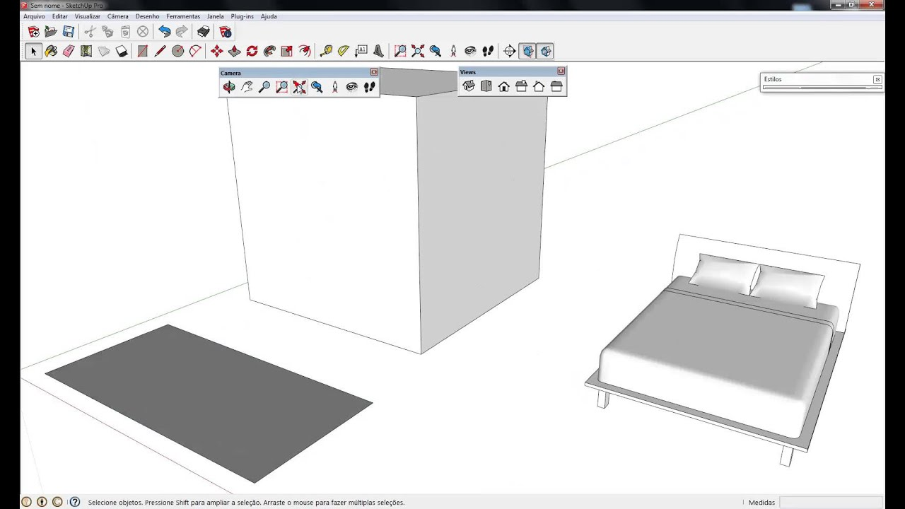 Curso sketchup 2013 aula 02 youtube for Sketchup 2013