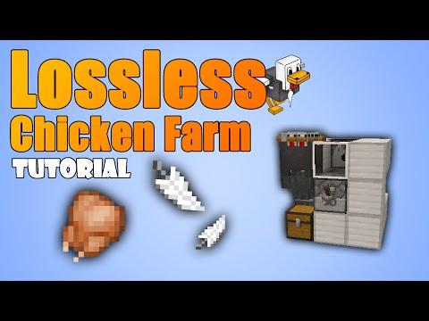 Minecraft 1.9 - Smallest & Lossless Chicken Farm