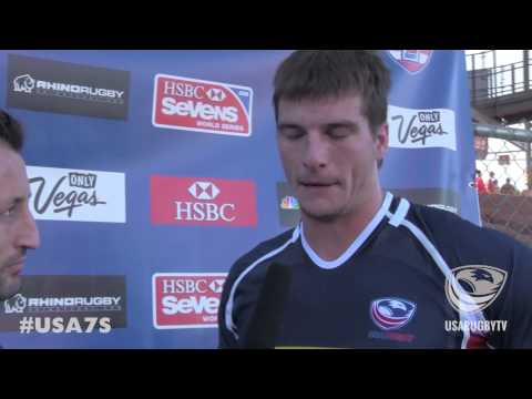 Brett Thompson post game vs. Spain - 2014 USA Sevens--Las Vegas