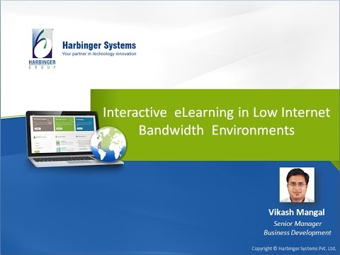 Webinar: Interactive eLearning in Low Internet Bandwidth Environments