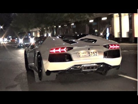 Lamborghini Aventador ROADSTER on the streets of London!