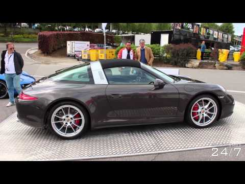 Porsche 911 Targa 4S roof in Action + Some sport exhaust revs!