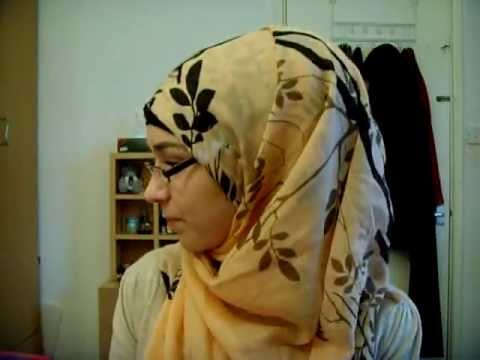 Hijab Tutorial: using a Square scarf