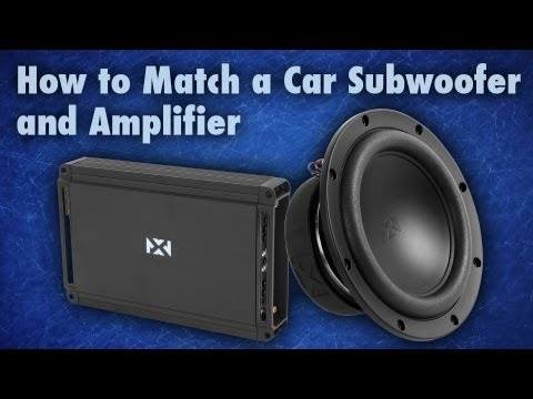 How to Match a Subwoofer and an Amplifier