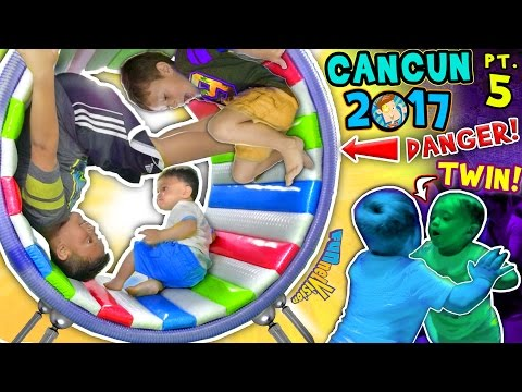 WHEELS ON THE BUS OUCH 🌎 WORLDS COOLEST INDOOR PLAYGROUND FUNnel Vision Cancun Mexico Pt 5 vlog