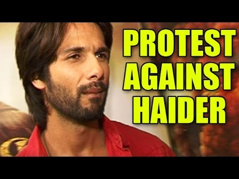 Shahid Kapoor unaware of the protest against Haider