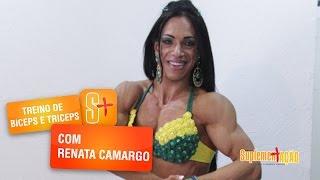 Treino de bíceps e tríceps com Renata Camargo