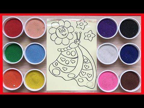 Đồ chơi trẻ em TÔ TRANH CÁT HÌNH BƯƠM BƯỚM VÀ BÔNG HOA - Colored Sand Painting (Chim Xinh)
