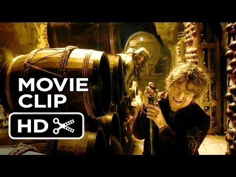 The Hobbit: The Desolation of Smaug Movie CLIP - Into The Barrels! (2013) HD